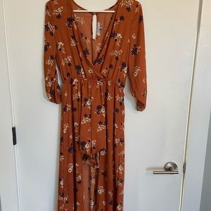 Deep V , dress with front exposed